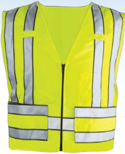 Zip-Front 5 Point Breakaway Safety Vest-