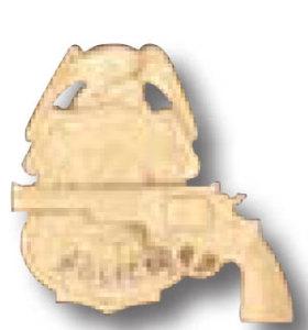 Revolver On Badge Tie Tac-Premier Emblem