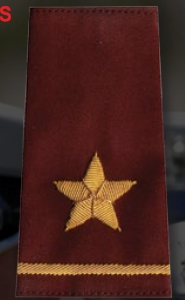 1 Star Rank Shoulder Boards-Premier Emblem