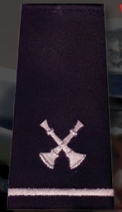 Five Crossed Bugle Custom Shoulder Boards-Premier Emblem