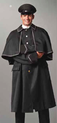 DOOR COAT WITH CAPE-Doorman Coats