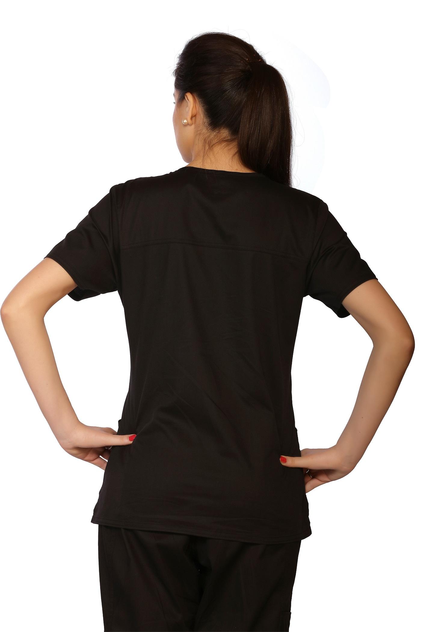 Womens Stretch V-Neck Top, LifeThreads Contego Collection