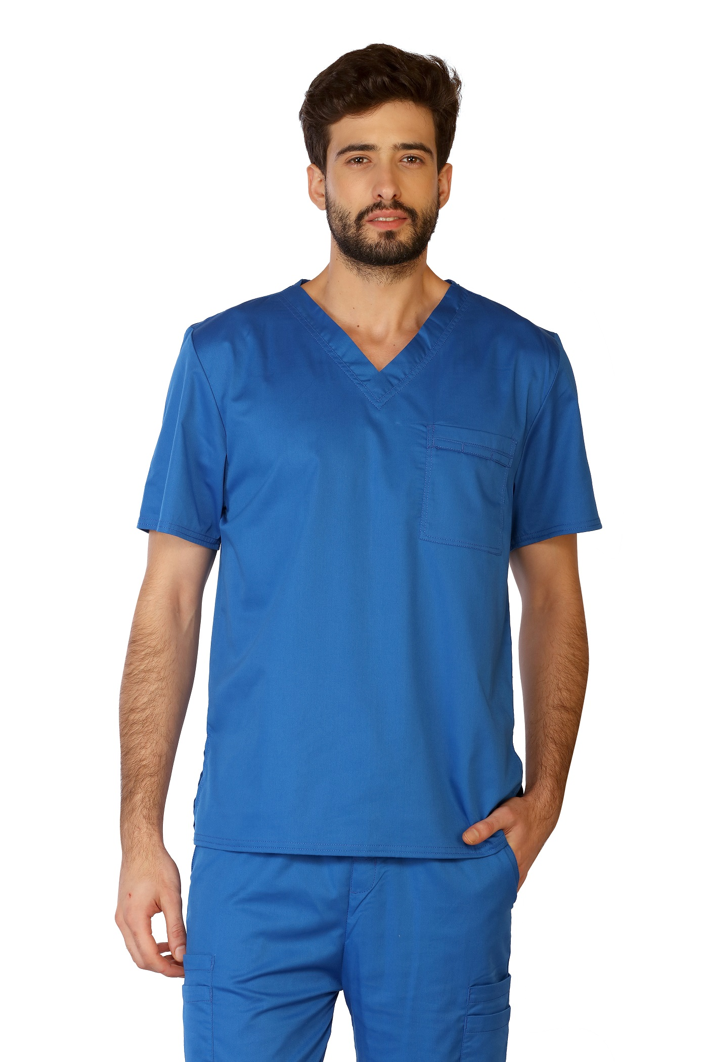 Unisex Stretch Scrub Top, LifeThreads Contego Collection-LifeThreads