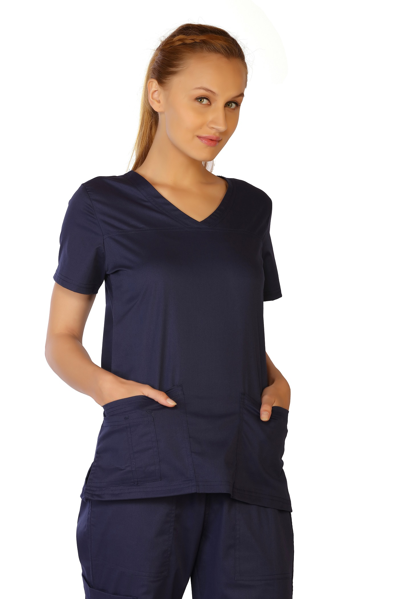 Women's Stretch V-Neck Top, LifeThreads Contego Collection