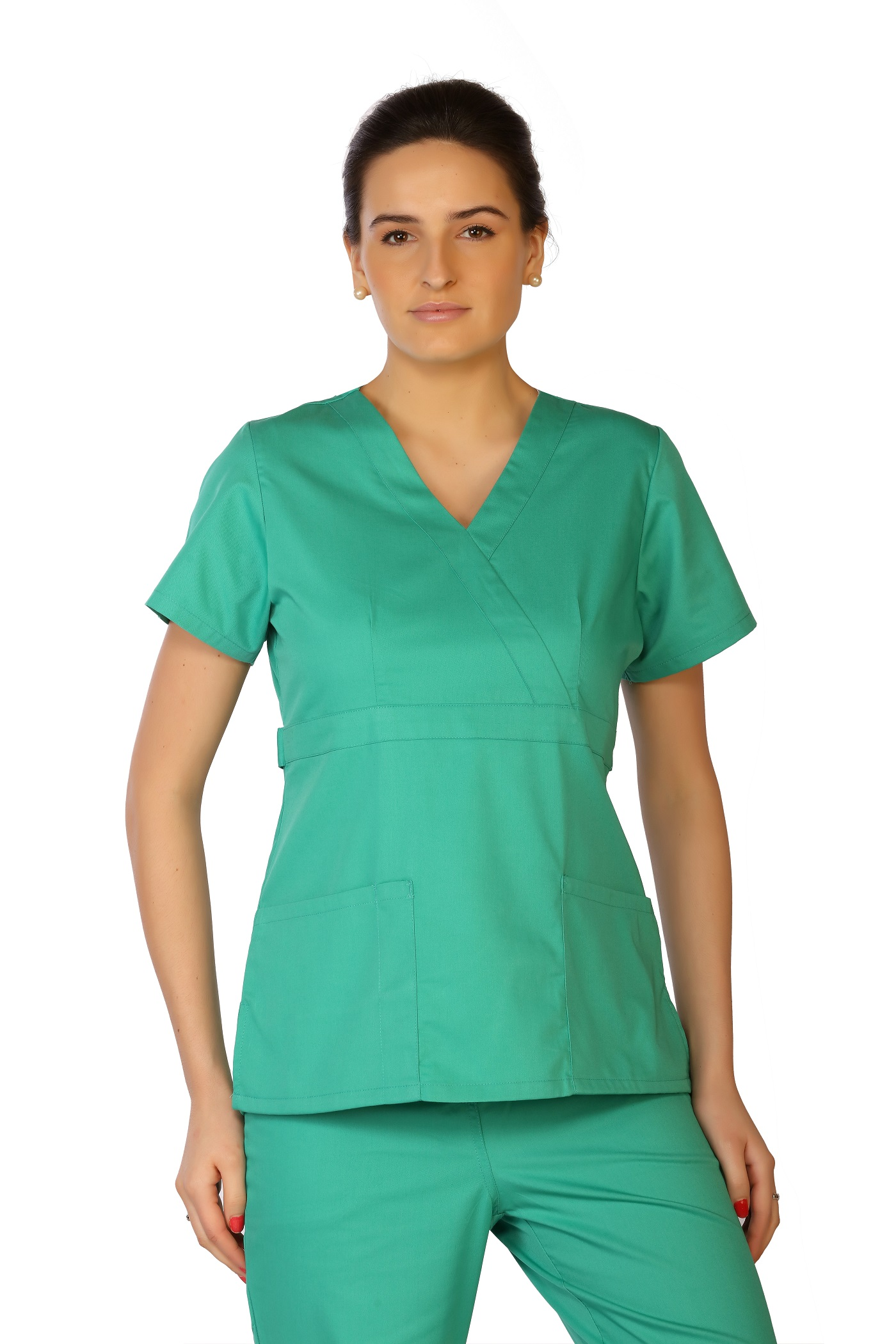 Women's Mock Wrap Scrub Top, LifeThreads Classic Collection