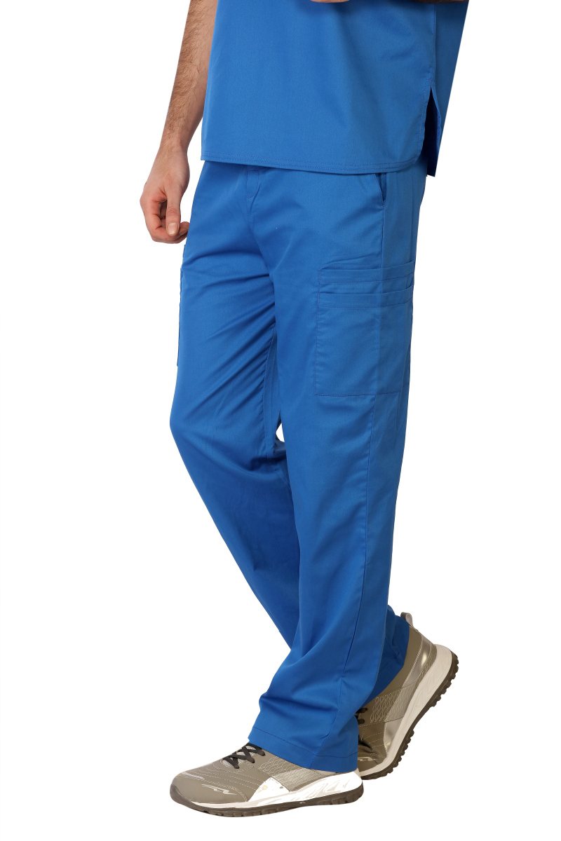 Mens Stretch Double Cargo Scrub Pants-LifeThreads