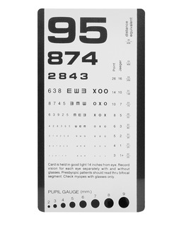 Pocket Eye Chart-