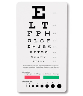 Snellen Pocket Eye Chart-