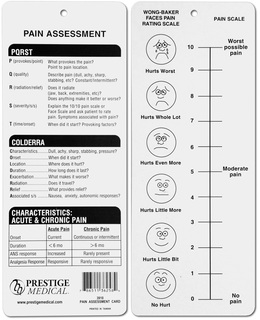 Pain Assessment Card-Prestige Medical