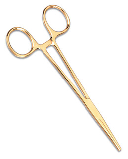 "5.5"" Gold Plated Kelly Forceps"
