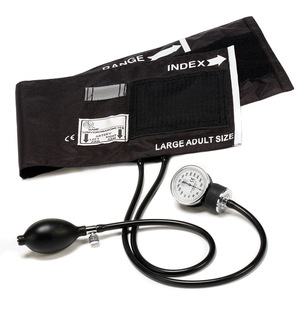Large Adult Cotton Cuff Aneroid Sphygmomanometer-Prestige Medical