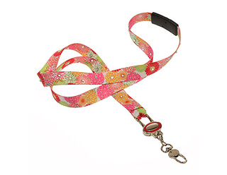 Boojee Crystal Ribbon Lanyards