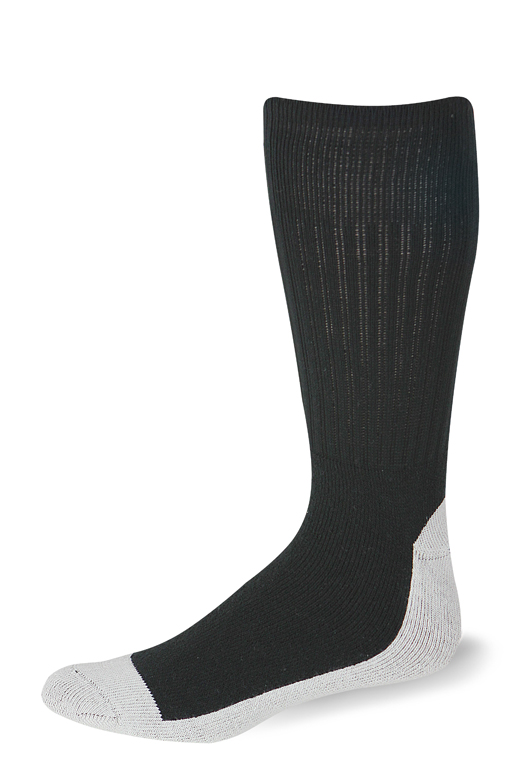 Cushioned Postal Health Sock (Black)-Pro Feet