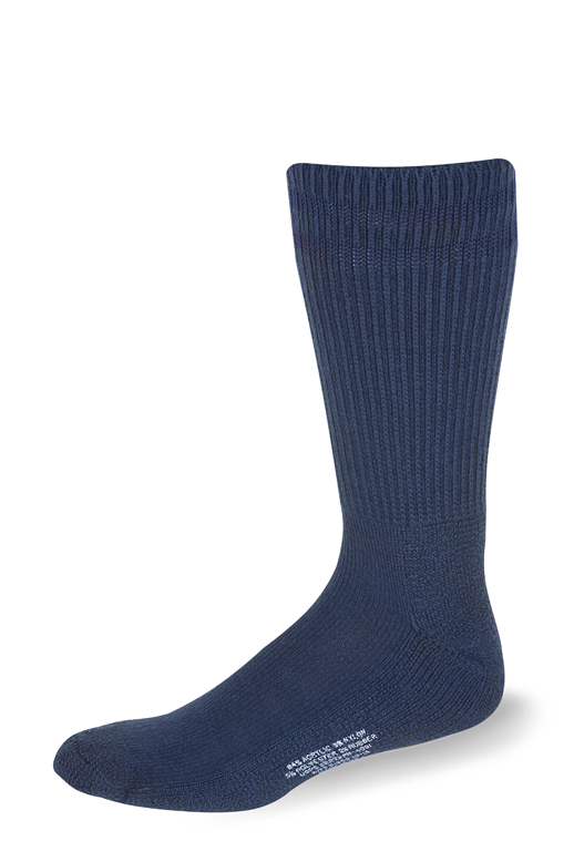 Cushioned Postal Crew (Postal Blue with Two Navy Stripes)-Pro Feet