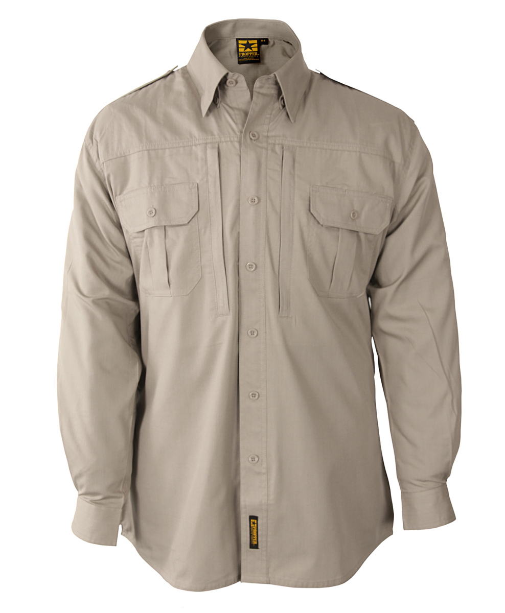 Propper® Mens Tactical Shirt - Long Sleeve - Poplin