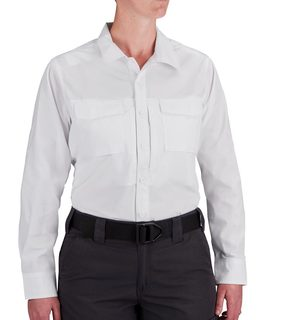 F53351M Propper Long Sleeve RevTac Shirt - Poplin White-