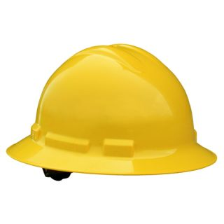 Radians Quartz Full Brim Hard Hats - 4 Point Ratchet Suspension WITH HARD HAT DECAL