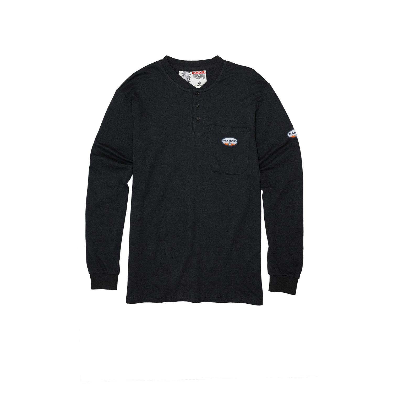 Black FR Henley T-Shirt-Rasco FR