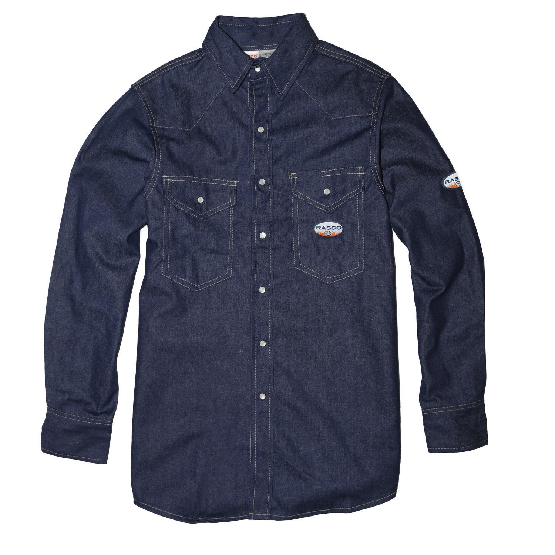 Blue Denim FR Lightweight Work Shirt-Rasco FR