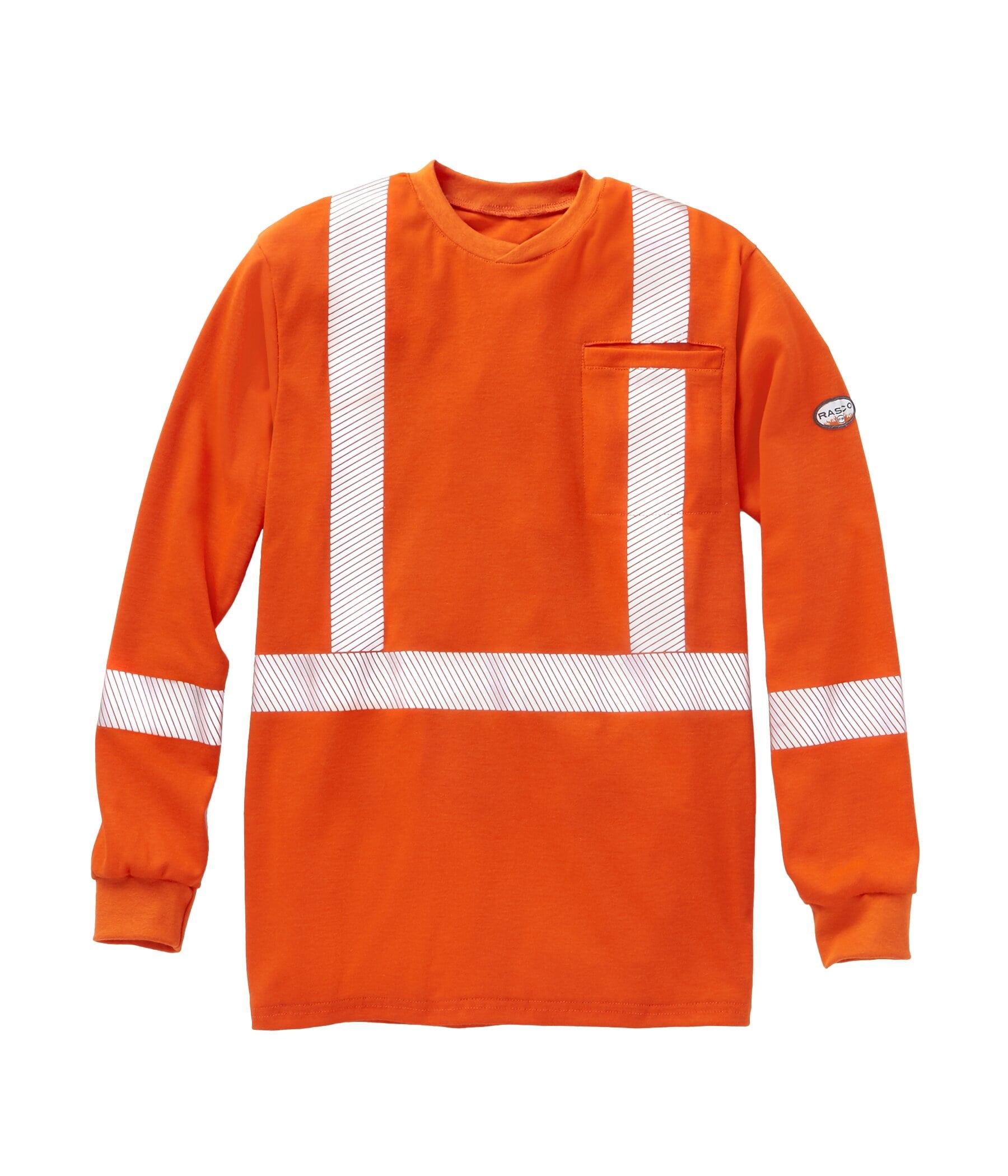 FR Hi Vis UltraSoft Long Sleeve Shirt with Reflective Trim
