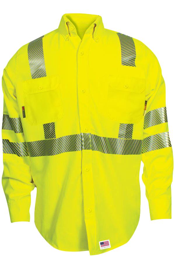 FR Hi Vis DH Uniform Shirt with Segmented Trim-
