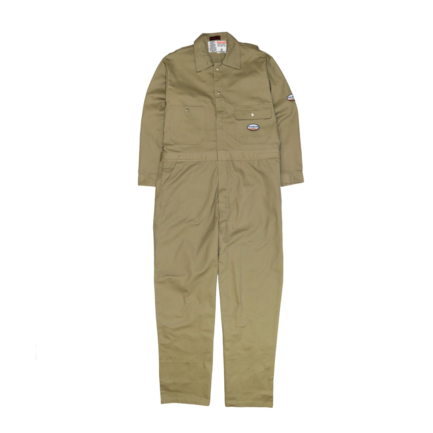 Khaki FR Heavyweight Coverall-Rasco FR