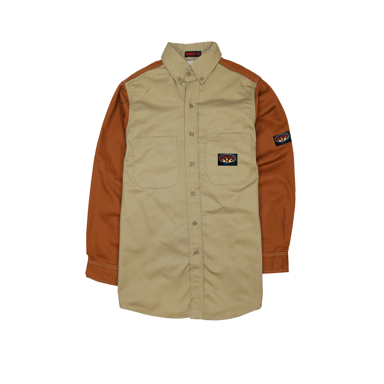 Khaki-Brown FR Two Tone Shirt