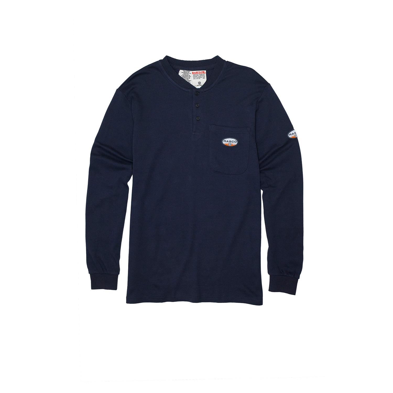 Navy FR Henley T-Shirt