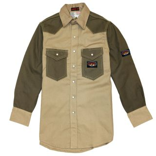 FR Green/Khaki Work Shirt-