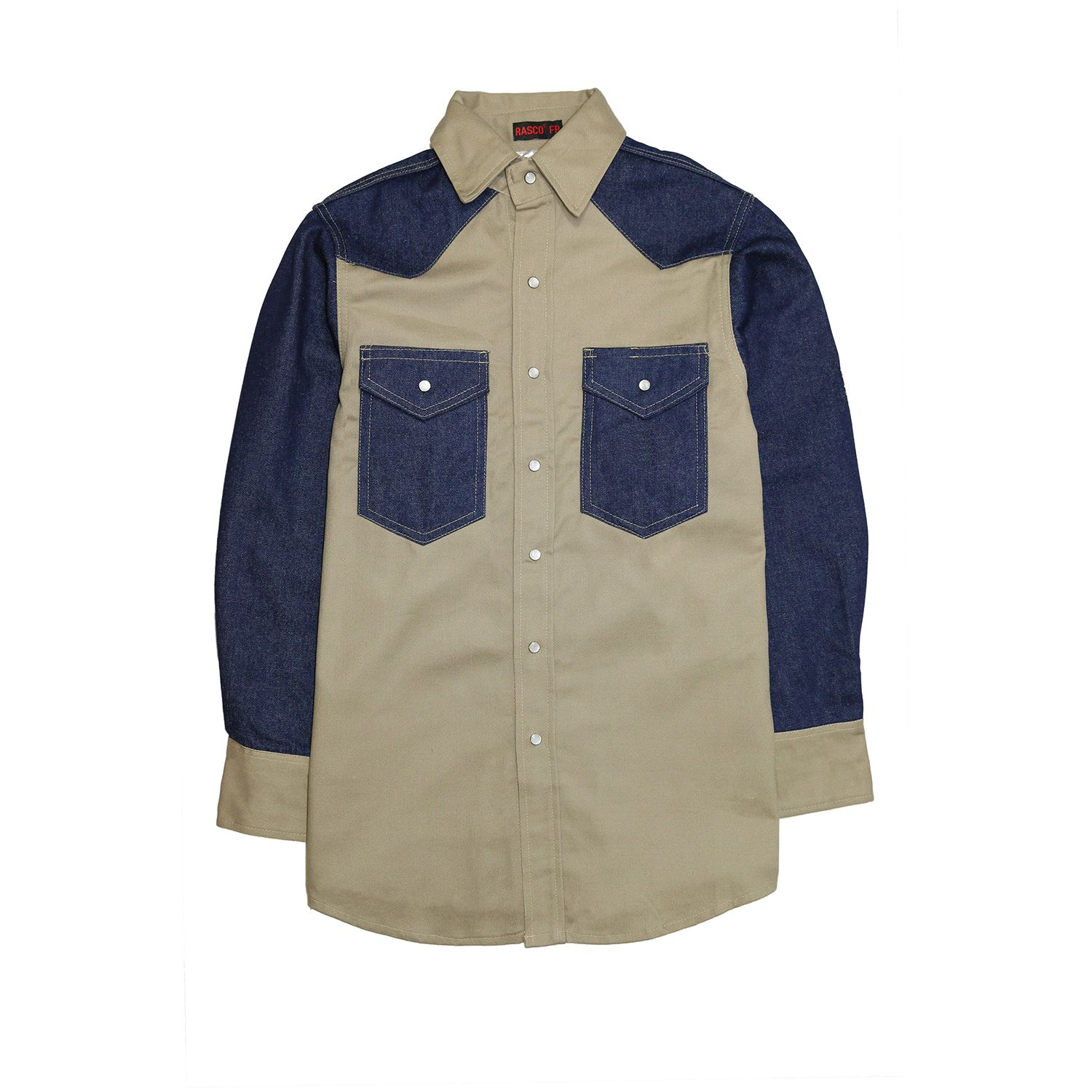 Fr1104 Two Tone Work Shirt