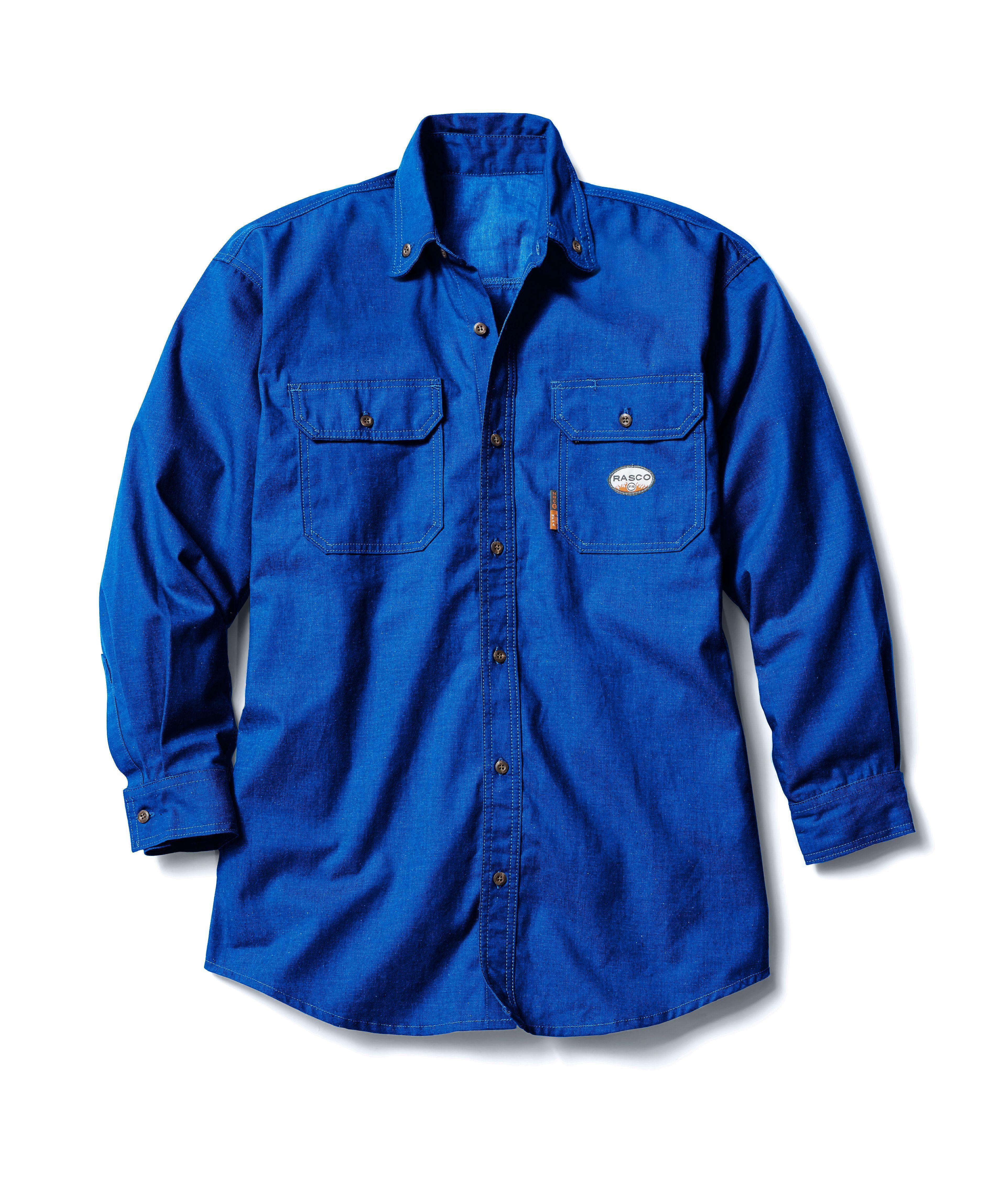 FR 4.5oz Nomex Uniform Shirt-Rasco FR