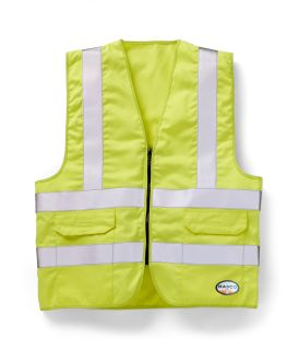 FR Hi Vis Yellow Vest W Pocket-Rasco FR