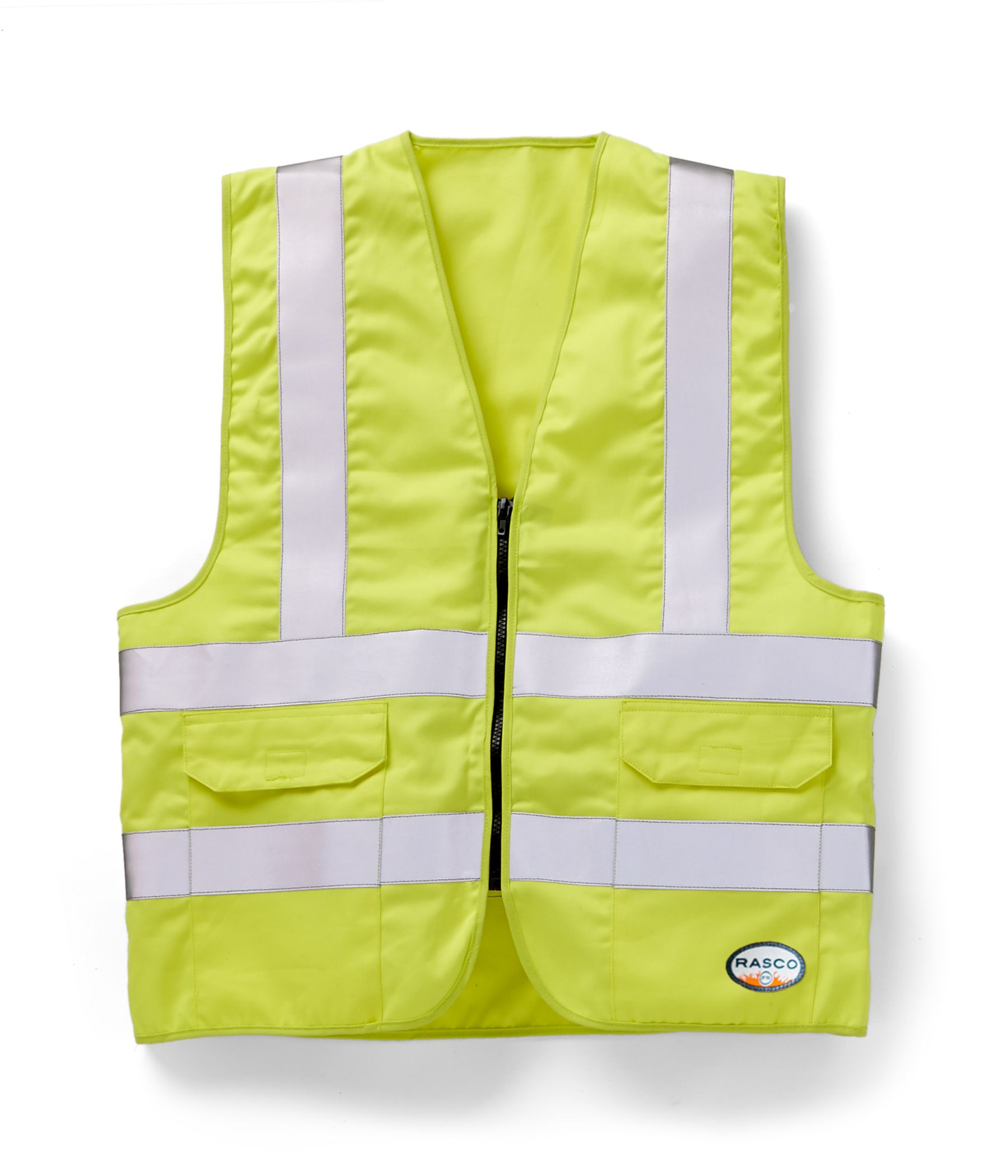 FR Hi Vis Yellow Vest W Pockets-