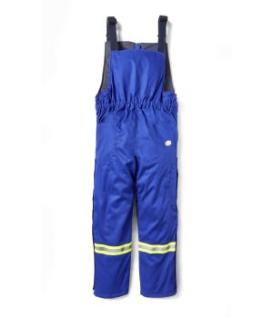 Insulated Bib Overall with Reflective Trim.