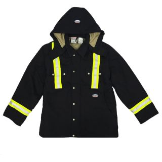 FR Black Utility Coat W Trim-Rasco FR