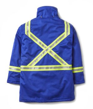 FR Royal Blue Parka W Trim-Rasco FR