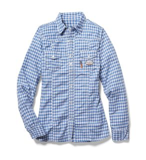 FR Blue Plaid Womens Shirt-Rasco FR