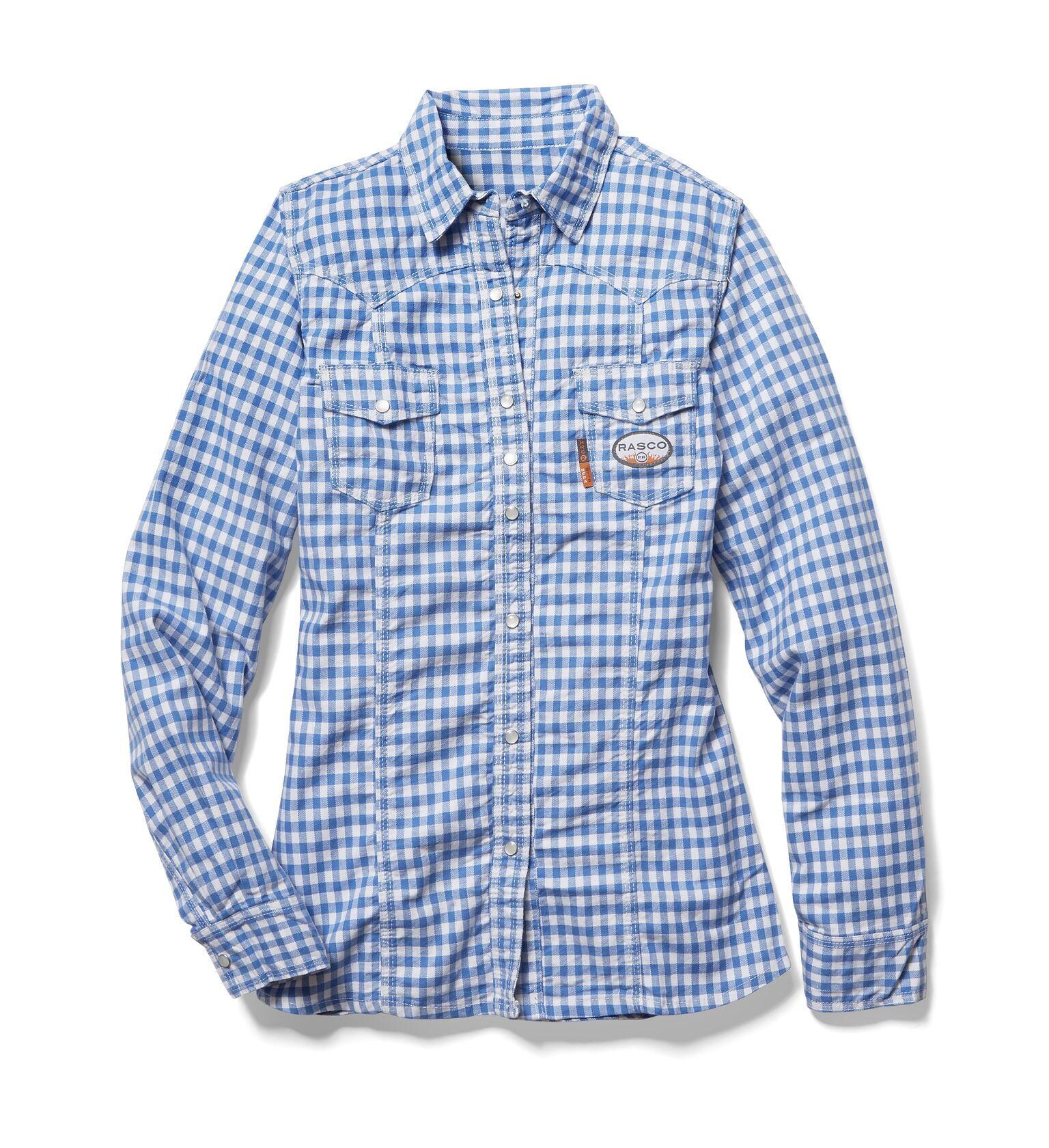 FR Women's Blue Plaid Shirt-