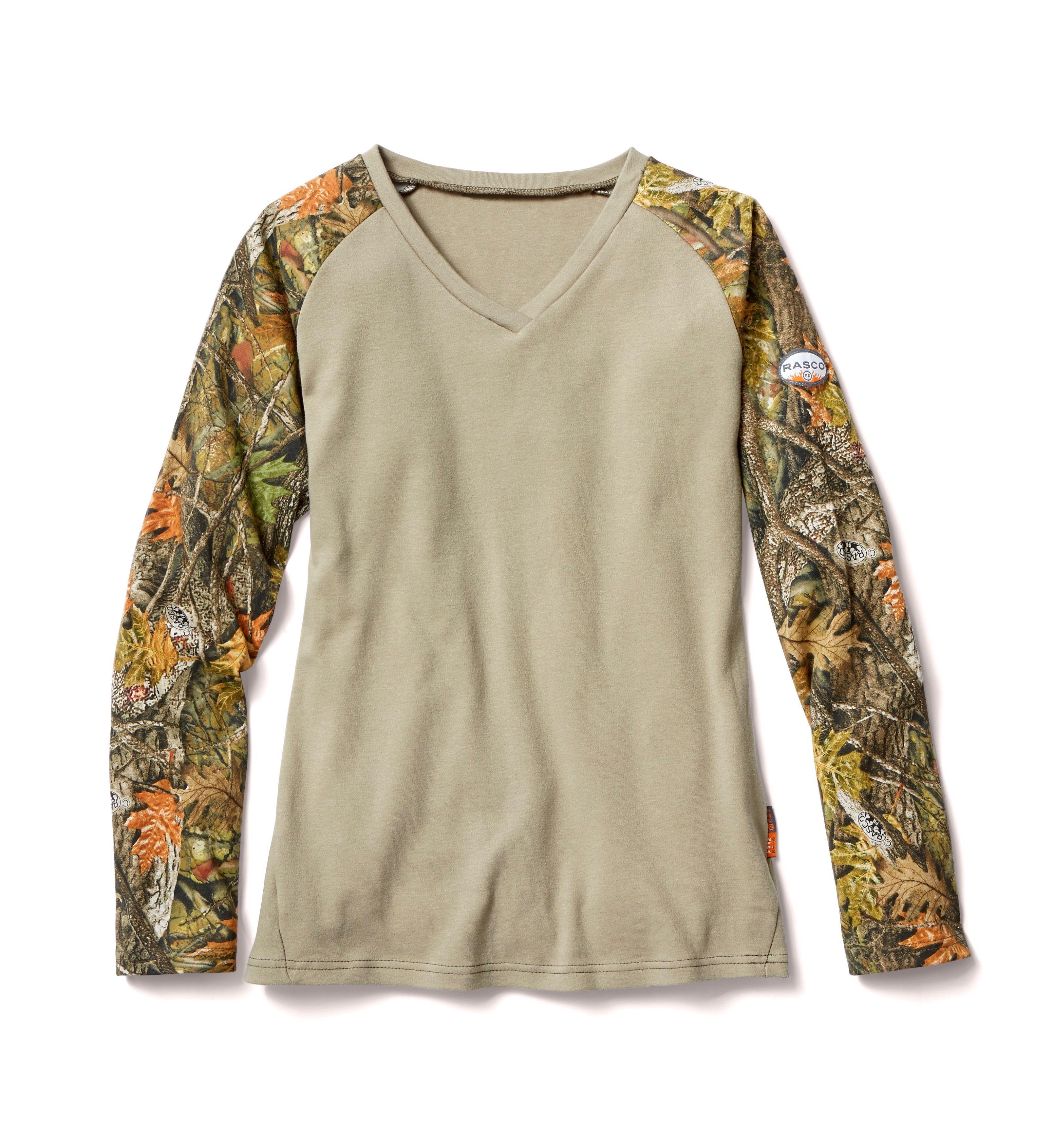 FR Camo/Khaki Womens Shirt-Rasco FR