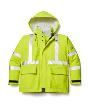 Hi Vis Yellow Rain Jacket-Rasco FR