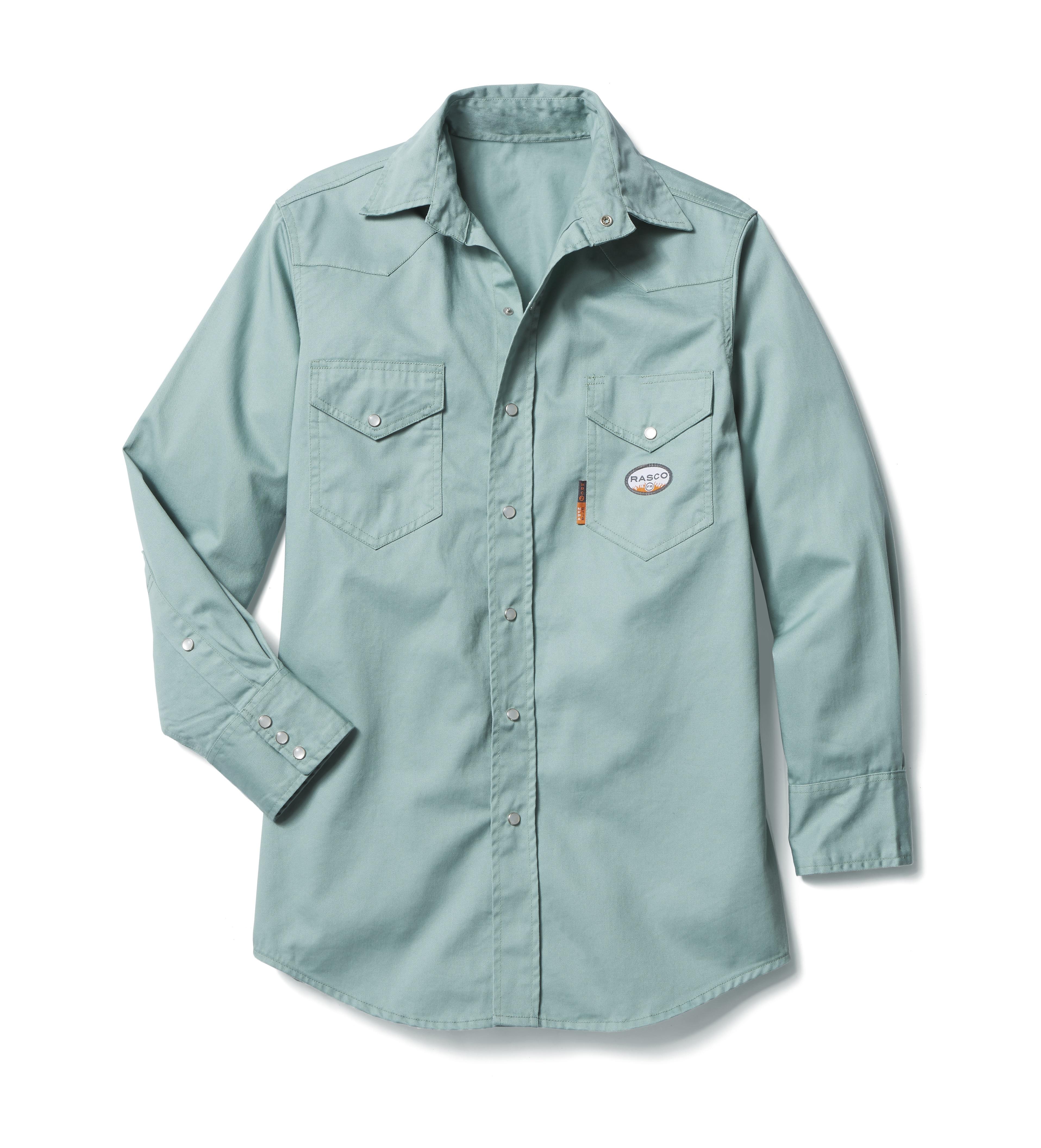 7.5oz Sage Green Fr Shirt-Rasco FR