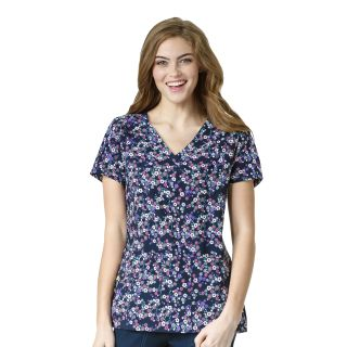 Y-Neck Multi Pocket Print Top