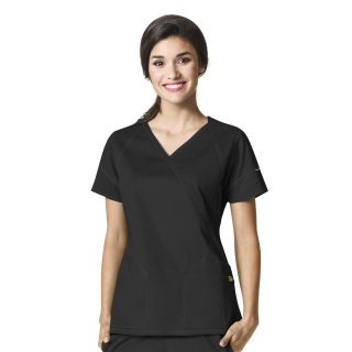 WonderWink 7Flex Womens Fashion Crossover Scrub Top