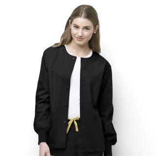 WonderWink Origins Unisex Delta Cuffed Snap Front Scrub Jacket