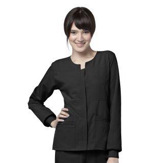 WonderWink Four-Stretch Women's Sporty Button Front Warm-Up Jacket