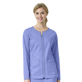 WonderWink  7Flex Womens Zip Front Scrub Jacket