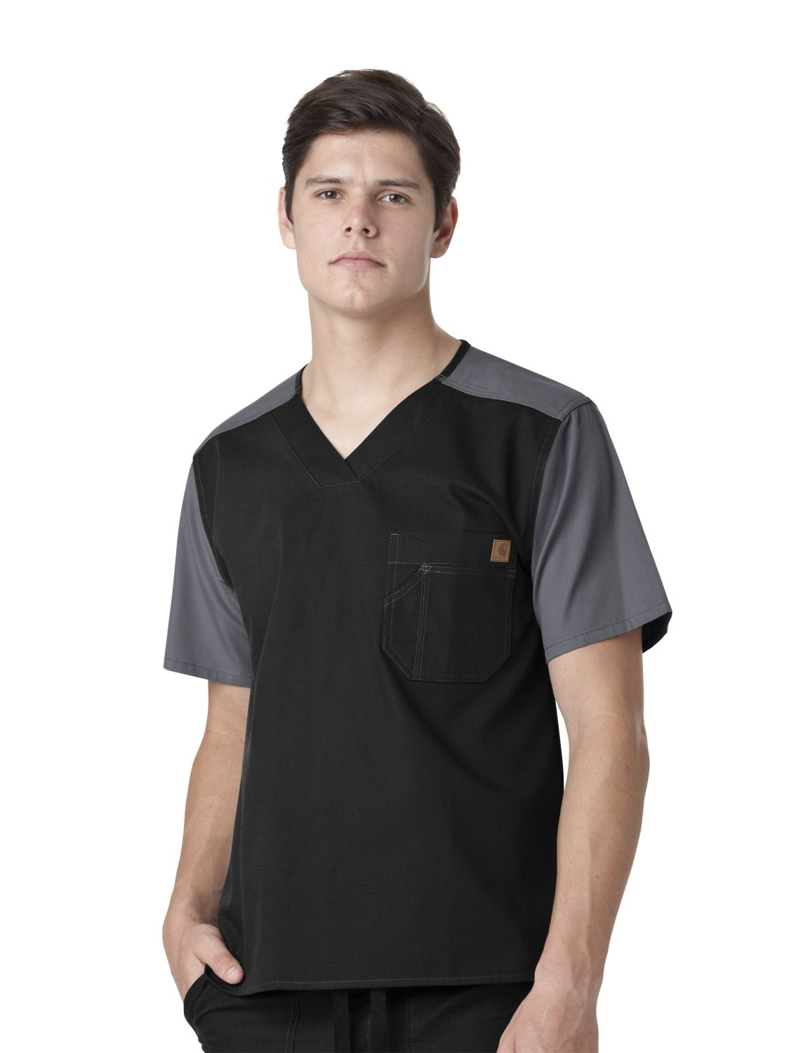 Carharrt Mens Ripstop Color Block Scrub Top-