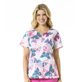 C16204 Print Mock Wrap Top