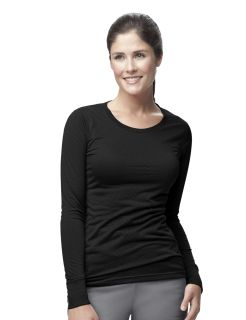 Womens Long Sleeve Burnout Jersey Tee