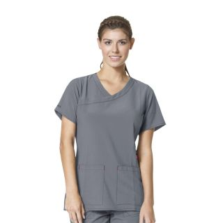 Carhartt Cross Flex Ladies Y-Neck Fashion Scrub Top - C12210-Carhartt
